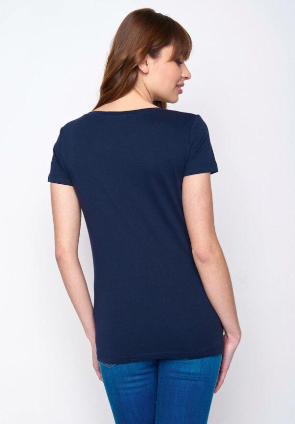 Greenbomb dámske tričko penguin family modré