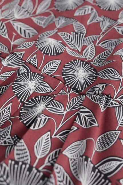 Seasalt Cornwall bambusové šaty seed packet mahogany