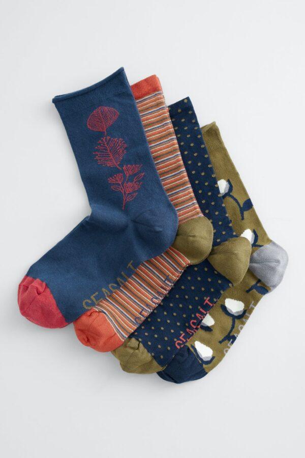 Seasalt Cornwall dámske dárkové balení ponožek cherry sky mix