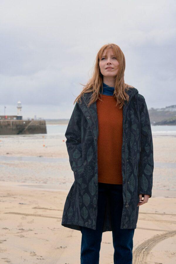 Seasalt Cornwall vněný kabát trenwheal zelený