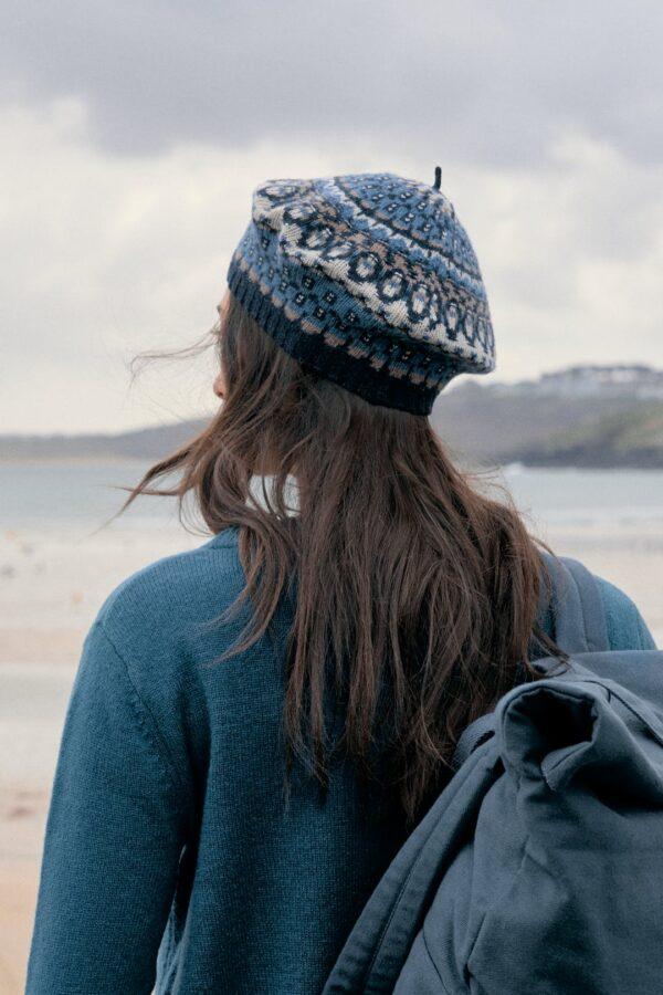 Seasalt Cornwall kruhový šátek mid century coal