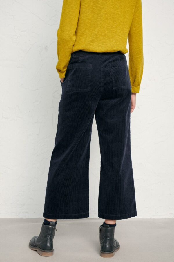 Seasalt Cornwall manšestrové kalhoty asphodel dark night
