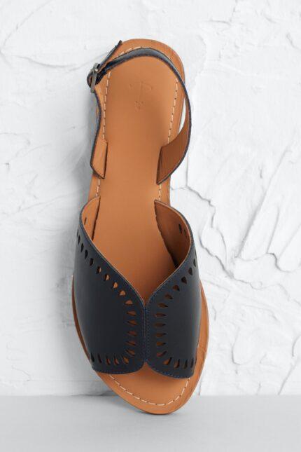 Seasalt Cornwall kožené sandály lapwing černé