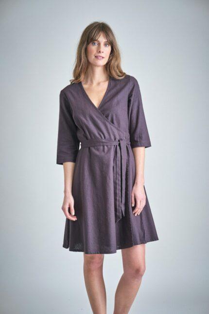Bibico zavinovací šaty jasmine grey