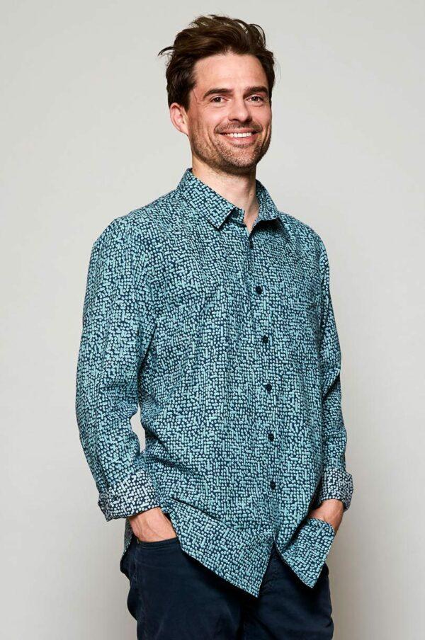 Nomads pánská košile s dlouhým rukávem cobble storm