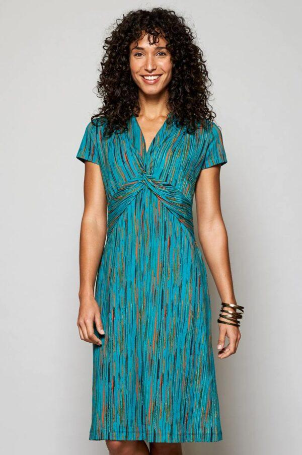 Nomads Šaty chroma z bio bavlny modré