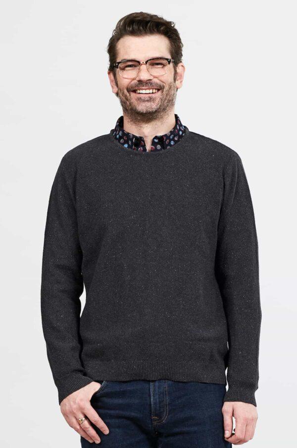 Nomads pánský svetr z bio bavlny šedý