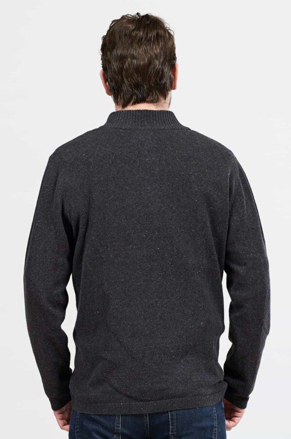 Nomads pánský svetr se zipem šedý