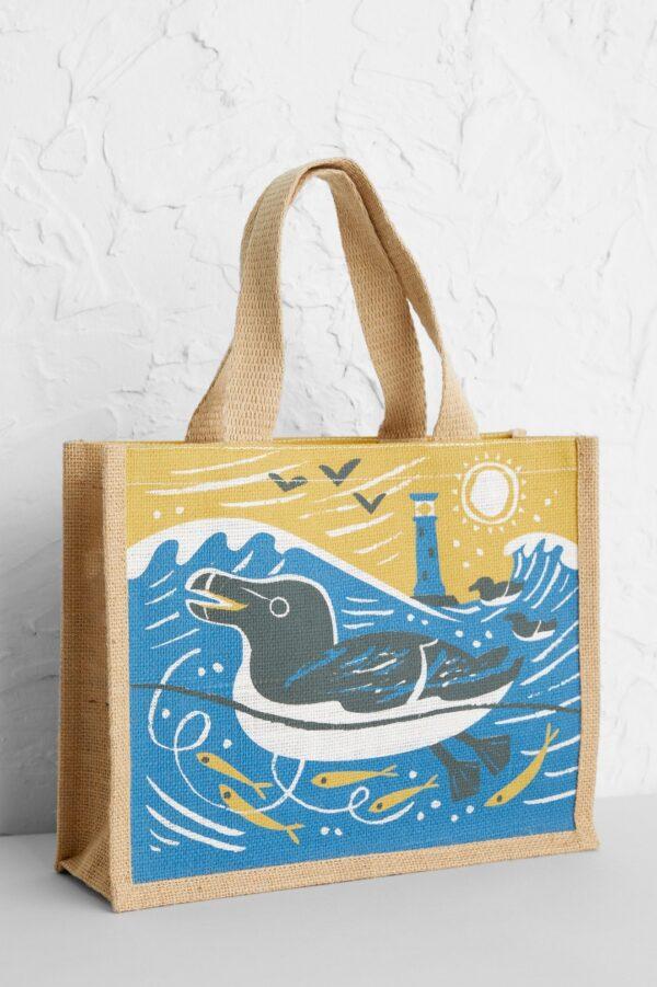 Seasalt Cornwall jutová taška razorbills – malá
