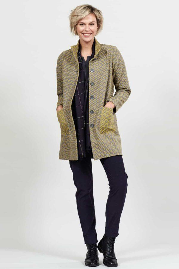 Nomads kabát se stojáčkem lemongrass
