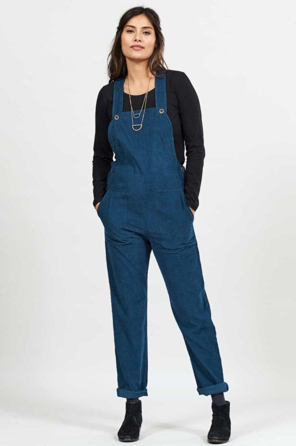 Nomads manšestrové laclové kalhoty modré