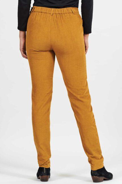 Nomads manšestrové slim kalhoty okrové