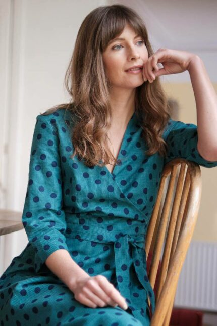 Bibico konopné šaty jasmine emerald