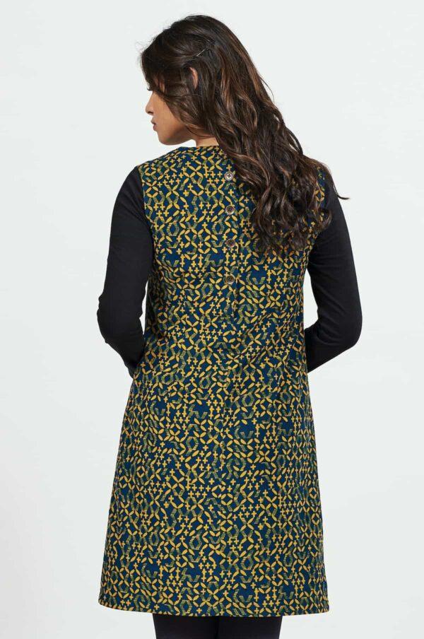 Nomads manšestrové pinafore šaty lattice
