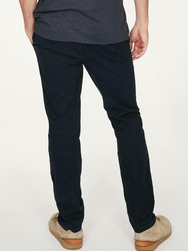 Thought pánské kalhoty z bio bavlny emanuele modré