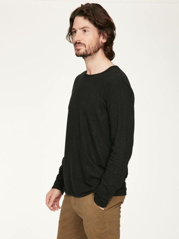 Thought pánské triko s konopím luigi černé