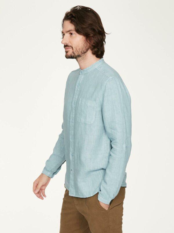 Thought pánská konopná košile paolo modrá