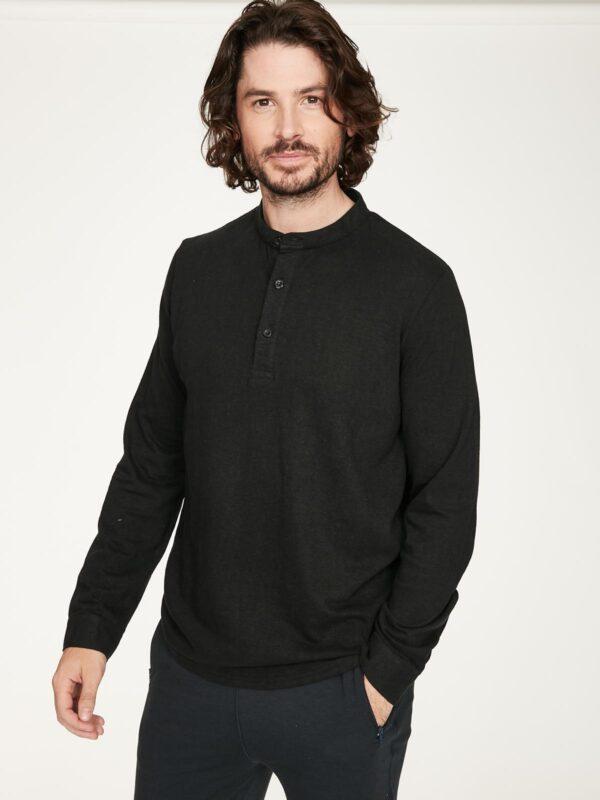 Thought pánské tričko s konopím cristian černé