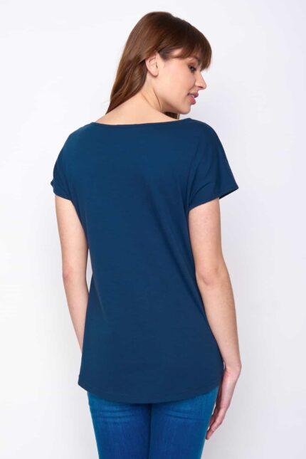 Greenbomb dámske tričko forest fox modré