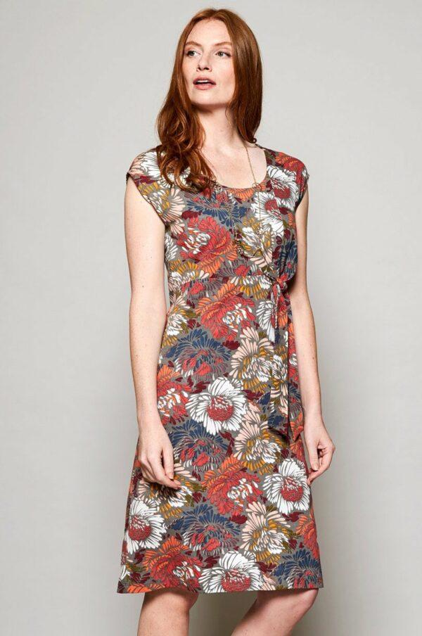 Nomads Šaty petal z bio bavlny červené