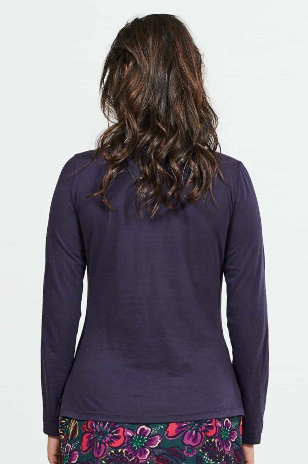 Nomads top z bio bavlny fialový