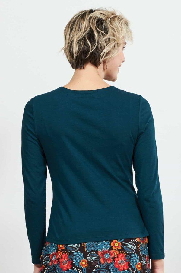 Nomads top s řasením z bio bavlny modrý