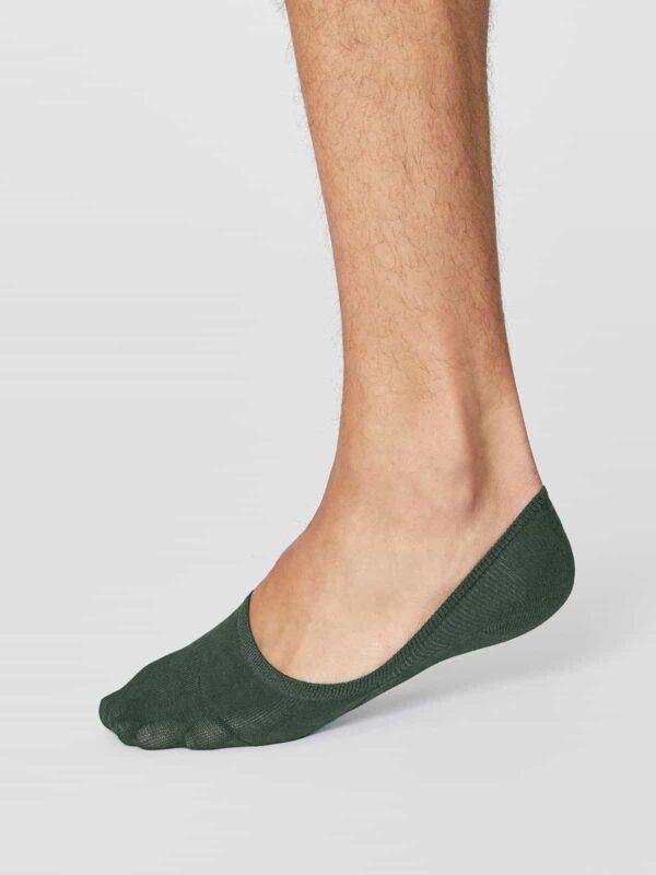 Thought pánské neviditelné ponožky zelené