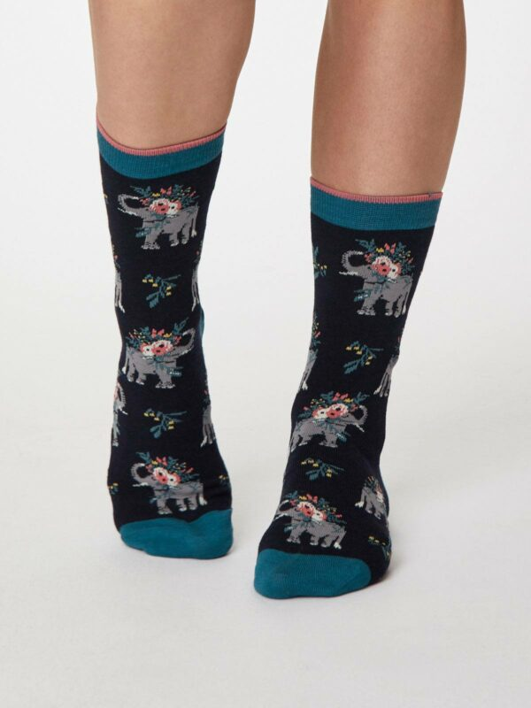 Thought dvojbalení bambusových ponožek pretty elephant