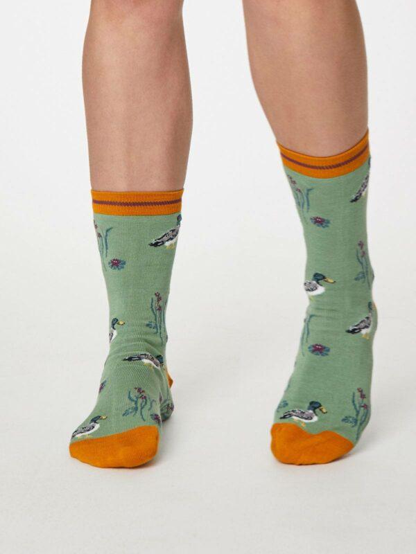 Thought dámske bambusové ponožky wild duck