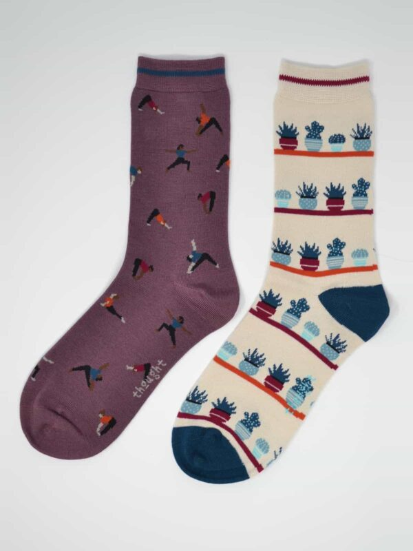 Thought dárkové dvojbalení dámských ponožek yogi
