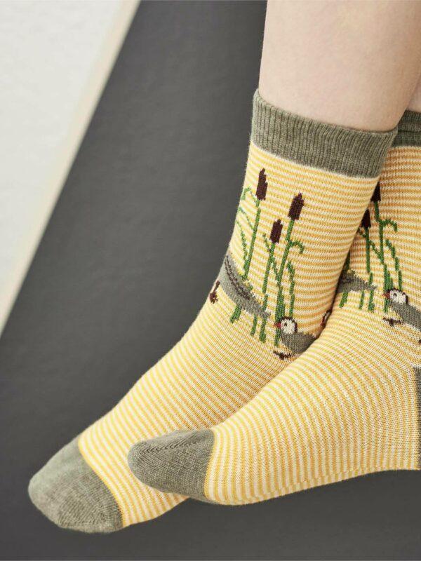 Living Crafts ponožky z bio bavlny kačenky