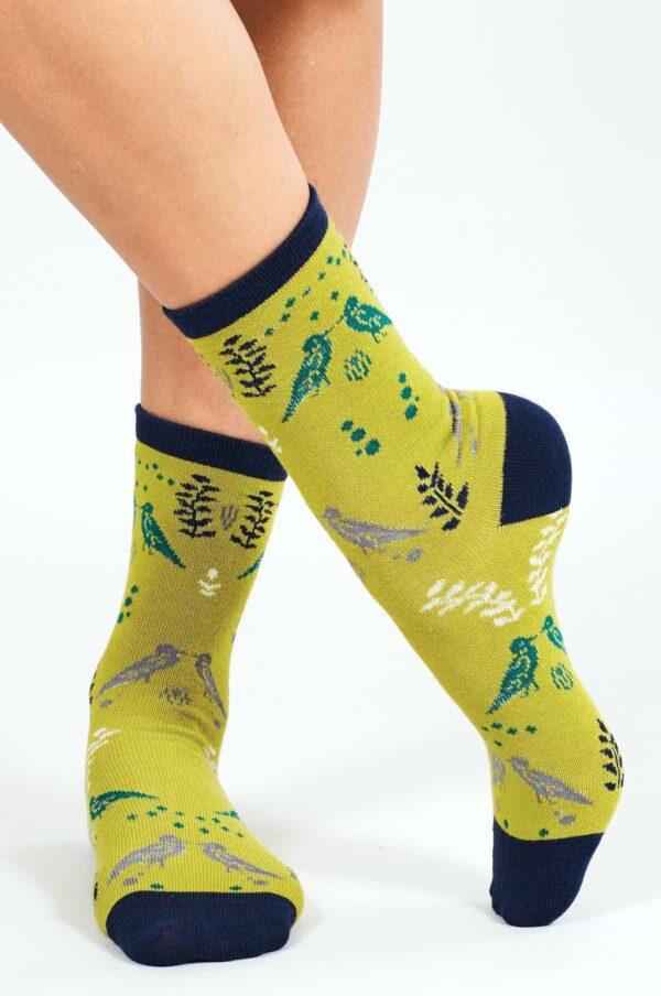 Nomads dámske ponožky z bio bavlny cornish zelené