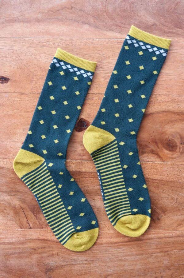 Nomads pánské ponožky z bio bavlny diamond žluté