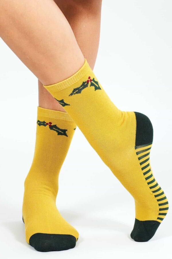 Nomads dámske ponožky z bio bavlny festive žluté