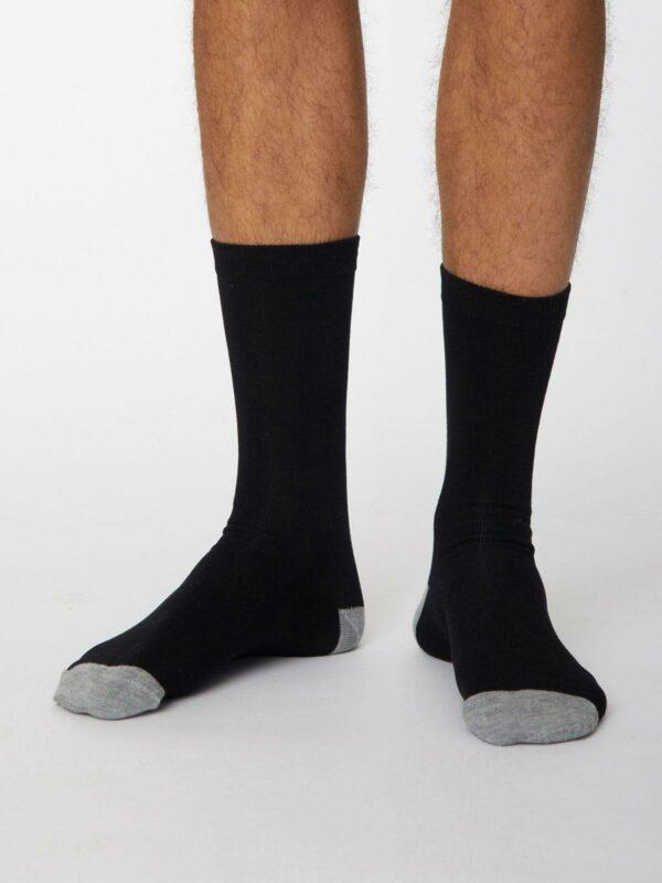 Thought pánské bambusové ponožky jack černé