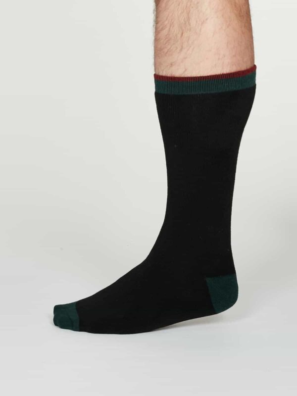 Thought teplé pánské bavlněné ponožky walker černé