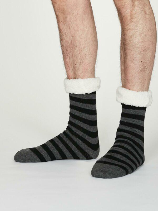 Thought pánské huňaté ponožky addison šedé