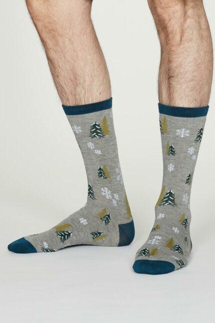 Thought pánské bambusové ponožky timber šedé