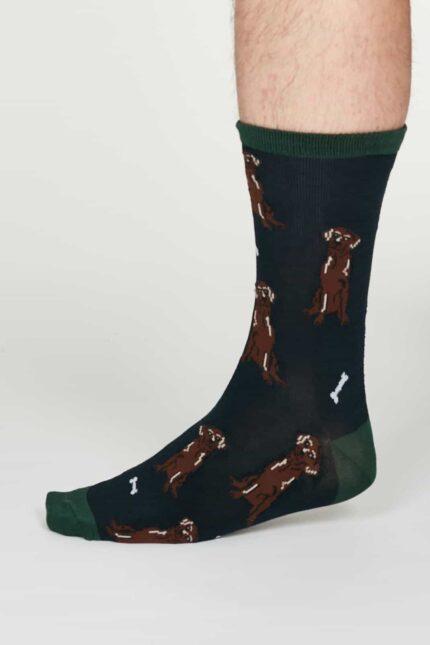 Thought pánské bambusové ponožky lyman modré