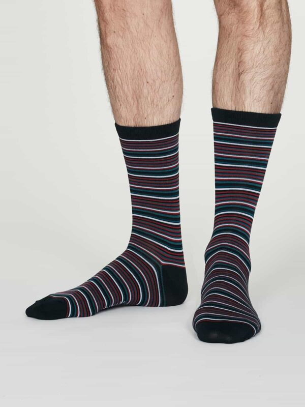 Thought pánské bambusové ponožky william modré