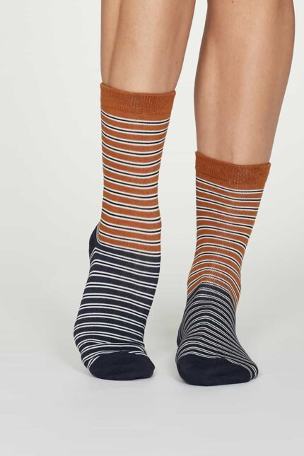 Thought dámske bambusové ponožky isabel oranžové