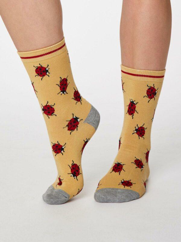 Thought dámske bambusové ponožky insetto žluté