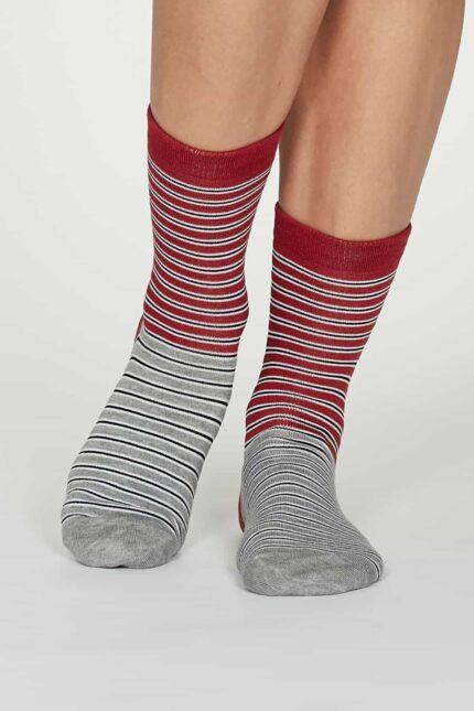 Thought dámske bambusové ponožky isabel červené