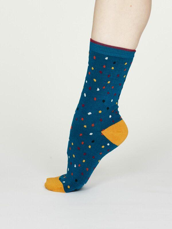 Thought dámske bambusové ponožky emme modré