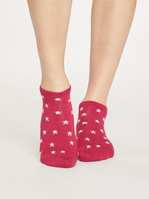 Thought dámske nízké ponožky starry červené