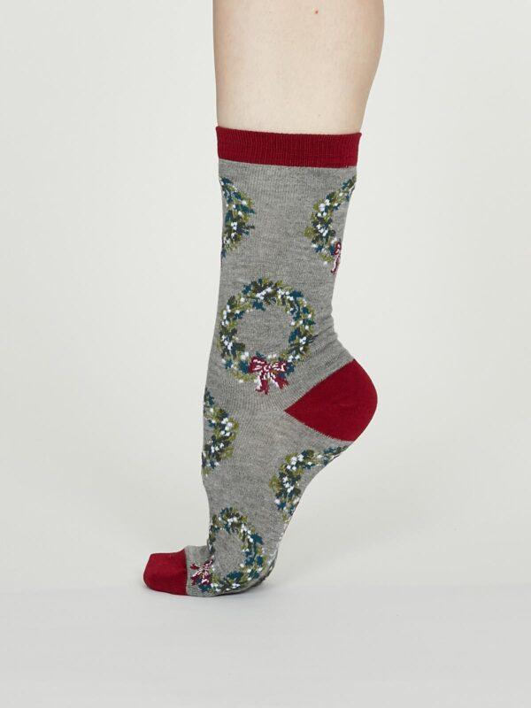 Thought dámske bambusové ponožky adella šedé