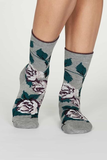 Thought dámske bambusové ponožky rosie šedé