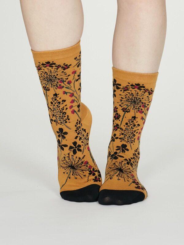 Thought dámske bavlněné ponožky amice žluté