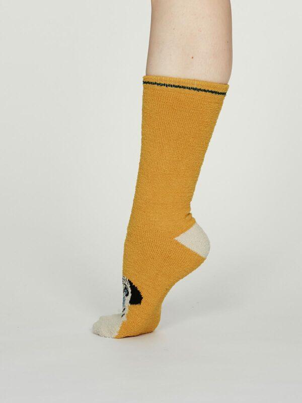 Thought dámske teplé ponožky rebecca žluté