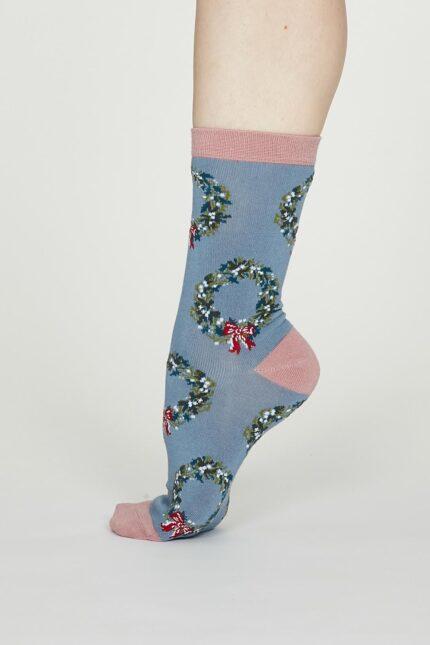 Thought dámske bambusové ponožky adella modré